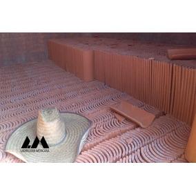 Teja De Barro Rojo Recocido Tipo Media Caña Mt2