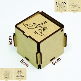 Caixinha 5x5x5 Crú (desmontada) Montagem Sem Uso De Cola