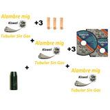 3 Alambre Mig Sin/gas Flux, Discos Corte, Picos, Tobera