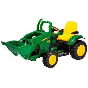 Mini Trator Elétrico - John Deere Ground Loader 12v - Peg-pé