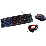 Combo Gamer Teclado Iluminado + Mouse + Auriculares Encore