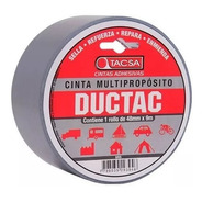Cinta Multiproposito Ductac Tape 9m X 48mm Gris