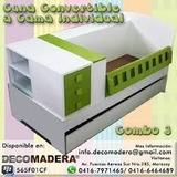Juego De Cuarto Cama - Cuna Convertible Decomadera.