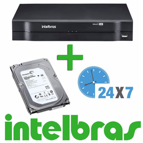 Dvr Intelbras 4 Canais Multi Hd Mhdx 1004 + Hd 1 Tb Video