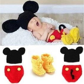 Disfraz Recién Nacido Mickey Minnie Tejido Fotografía