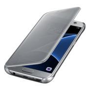 Funda S7 Flat Original Flip Cover Clear View Samsung Galaxy