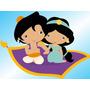 Kit Imprimible Princesa Jasmine Aladdin Baby Tarjetas 1