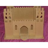 Castillo Fuerte Madera 4torres,puente Levadizo Para Pintar*