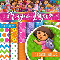 Kit Scrapbook Digital Dora Aventureira 3 - Envio Rapido
