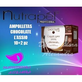 Ampolletas Nutrapel Chocolate P/cabello Alisado 10+2pz