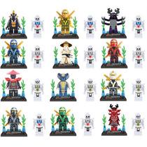 Ninjago Kit 24 Bonecos Lloyd Ninja Go Dourado General Lego