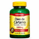 Óleo De Cártamo 1000mg 60cps Maxinutri # Redução Colesterol