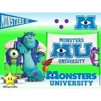 Kit Imprimible Monster Inc University Diseña Tarjetas 2x1