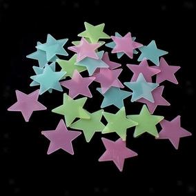 Estrelas Fluorescentes Cores 100 Unids P/ Teto, Parede