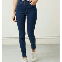 Jeans Dama Tubito Corte Alto
