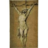 Lienzo Tela Canvas Arte Sacro Cristo En La Cruz 100 X 60 Cm