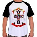 Camiseta Raglan Guns N Roses Appetite For Destruction Banda