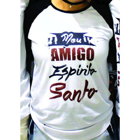 Frete Grátis Camiseta Meu Amigo Espirito Santo Evangélica