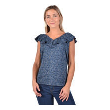 Blusa Chaps Mujer 206714776-2wmg Azul-multi