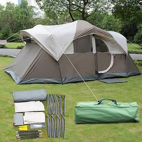 10 Personas Impermeable Camping Carpa Doble Capa Familia