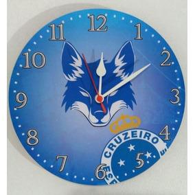 Relógio Parede Futebol Área Festa Cruzeiro Time Jogo 30cm