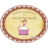 Placa Personalizada Chá De Cozinha Panela Enfeite 40x27cm