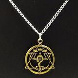 Collar Fullmetal Alchemist - Metal Dorado