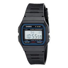 Reloj Casio F91 Digital Original Caucho Acero Agente Oficial