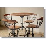 Kit Bistro Rustica Barzinho Churrasco 4 Cadeiras + 1 Mesa