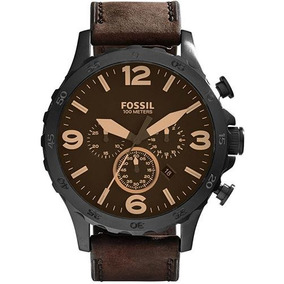 Relógio Masculino Fossil Nate Chronograph Jr1487/0mn Couro