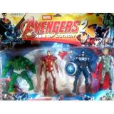 Set Muñecos Marvel Advengers/spiderman