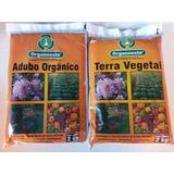 Adubo + Terra Vegetal Organico Plantas Hortaliças Flores 2kg