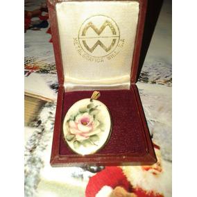 Dije Colgante Camafeo De Porcelana Con Oro 14 K