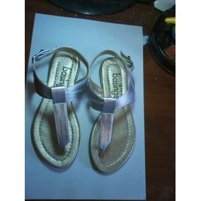Sandalias Plateadas, Basinger Para Niñas