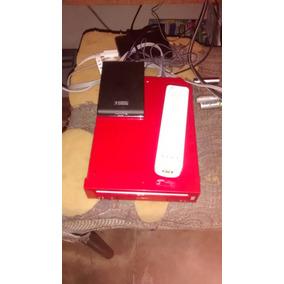 Nintendo Wii Rojo Hackeado Lleno De Juegos Disco Duro 300gb
