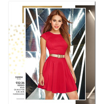 Vestido Cklass Rojo Temporada Otoño Invierno 2016 Nuevo