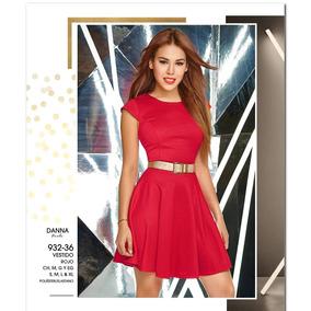 Vestido Cklass Rojo Temporada Otoño Invierno 2016 Envio