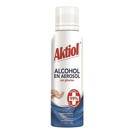 Aktiol Alcohol En Aerosol Con Glicerina 143 Ml X6