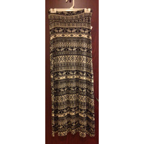 Maxi Falda Tribal Retro Fresca Stretch Casual Fiesta