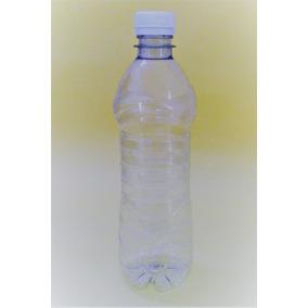 Kit 100 Botella Para Agua 500ml Pet Cristal Con Tapa Y Envío