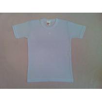 Camiseta Básica Infantil Atacado 100% Algodão Branca Nº 8