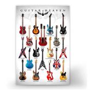 Poster Placa Quadro Guitarras Famosas Guitar Heaven 40x60cm