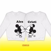 Par Sudaderas Amor Mickey Y Minnie Personalizadas Cr9519