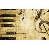 Painel Em Lona Notas Musicais 2,00x1,40