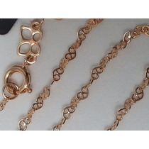 Cordao Rommanel Fio Formado Elos Coração Dourado 60cm 531473