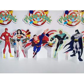 Display De Chão Mesa Liga Da Justiça Totem Painel Cenário