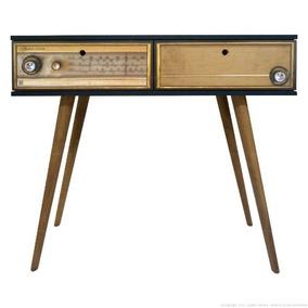 Aparador Com 2 Gavetas 0282 Phorman - Preto/rádio Antigo