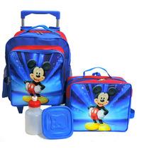Mochila Mickey Mouse Rodinhas Infantil + Lancheira Tam M