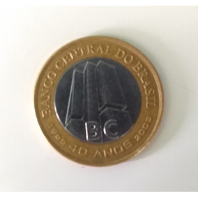 Moeda Colecionador 40 Anos Banco Central Do Brasil Raridade