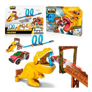 Pista De Autos Zuru T Rex Con Auto Tipo Hot Wheels